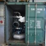 container stuwen op locatie