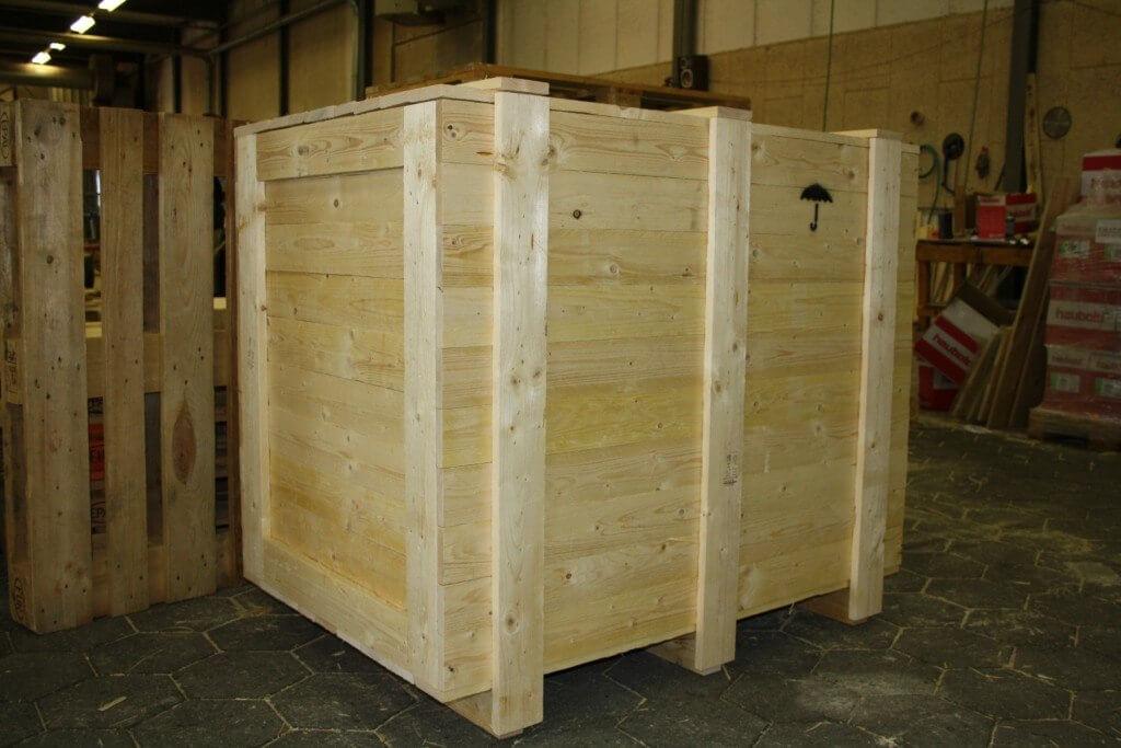 duurzame houten kist